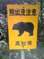 1熊に注意のさおりが原登山道2