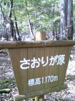 1さおりが原登山道の標識3