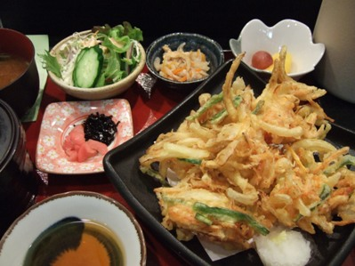 桜海老かき揚げ定食