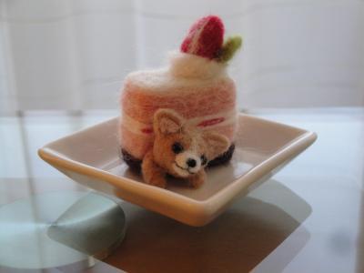 いちごケーキ チワワ