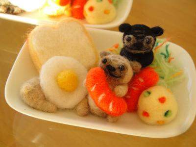 ワンプレート 朝食 パグ ①-2