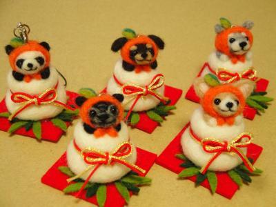 正月飾り餅ストラップ2013-③