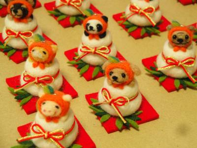 正月飾り餅ストラップ2013-2