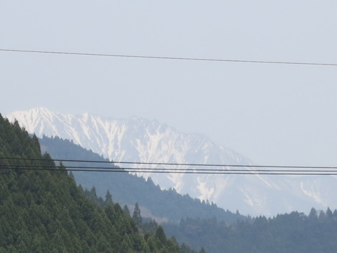 雪残る大山☆
