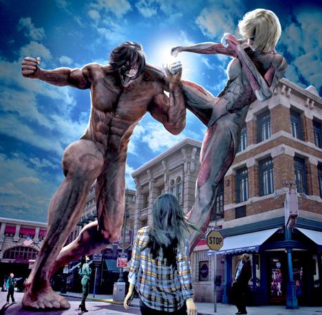 USJに身長15メートル巨人が!2015年1月23日に新アトラクションが誕生!