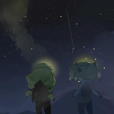 木曽駒夜空