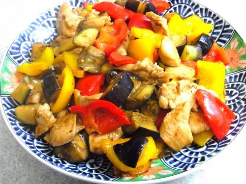 130907-211鶏肉と茄子の炒め(S)