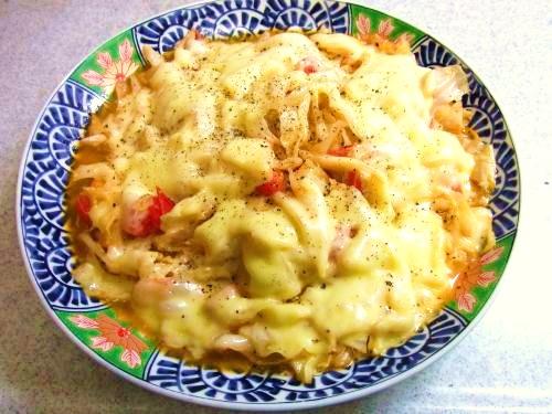 131006-231キャベツとトマトのチーズ焼き(S)