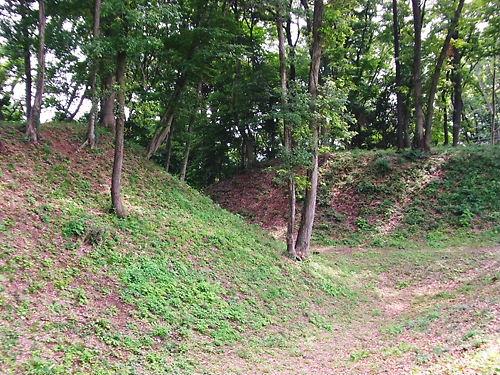 滝の城堀跡