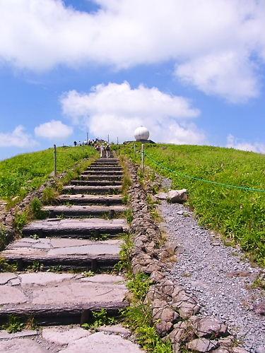 車山山頂へ (2)