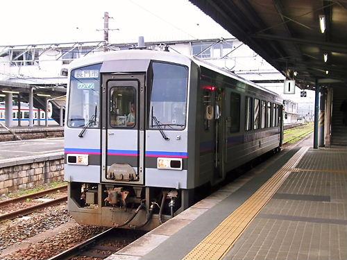 厚狭駅にて