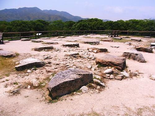 萩城天守台礎石