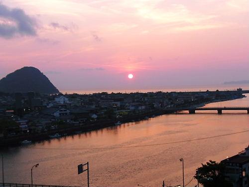 萩の夕日 (2)