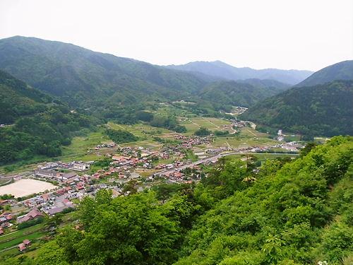 津和野城本丸からの眺め