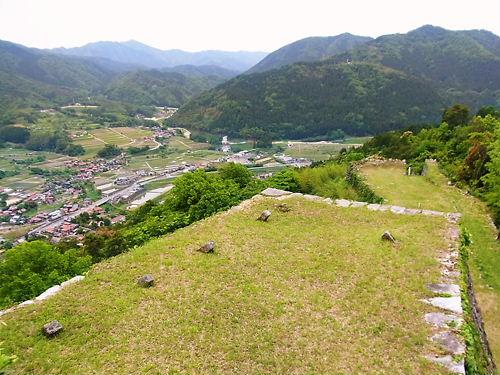 津和野城本丸からの眺め (2)