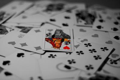 queen カード トランプ モノクロ