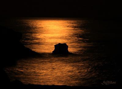 海 輝き 月 夜
