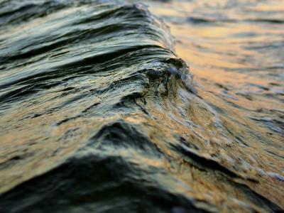 波 水 海 夕焼け