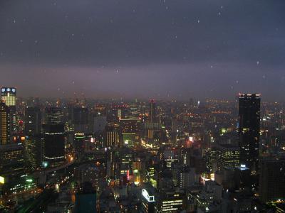 夜景 大阪 街 摩天楼