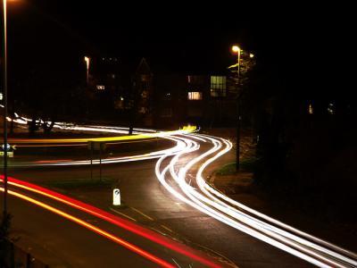 車 夜景 光 長時間露出