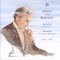 ベートーヴェン交響曲第7番 カラヤン/ベルリン・フィル(1978)  ジャケ