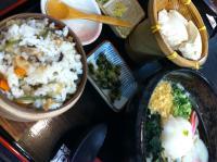 山菜わっぱご飯とおろしうどん定食