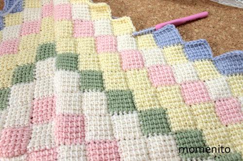 Entrelac Crochet Blanket 1