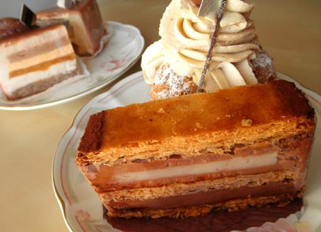 【ケーキ】アテスウェイ「ミルフィーユショコラバナーヌ」 (2)