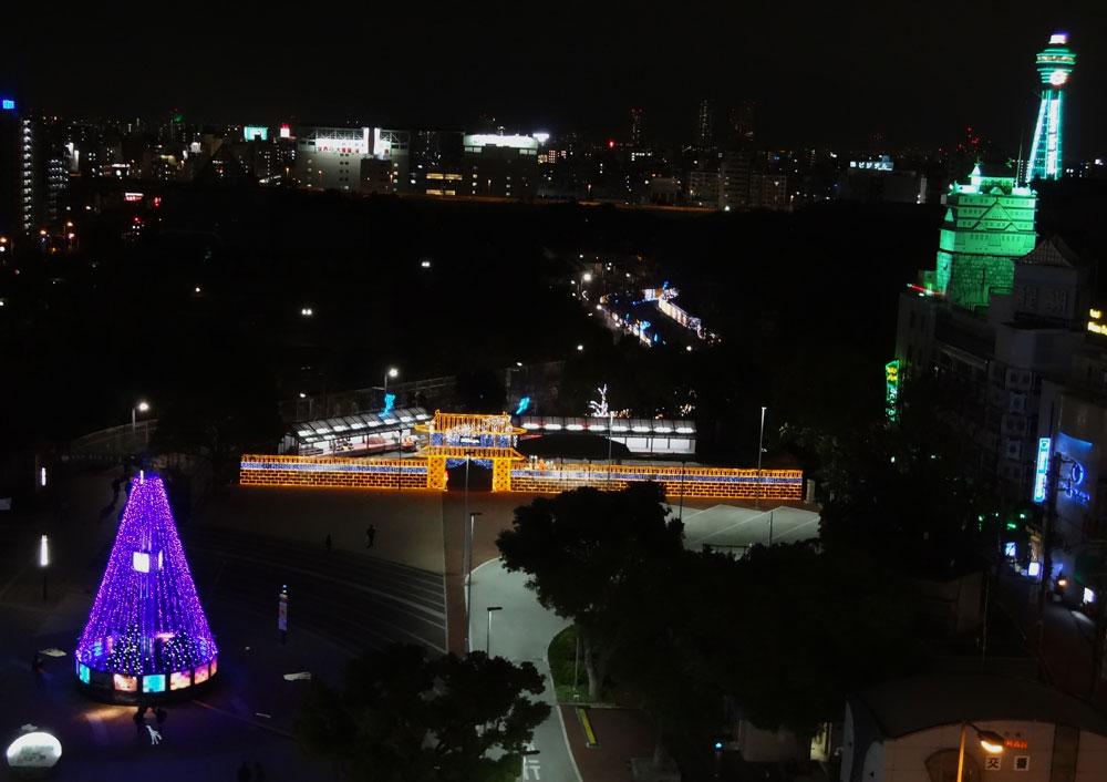 天王寺公園イルミ門