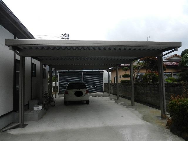 M様邸カーポート、ガレージ 002