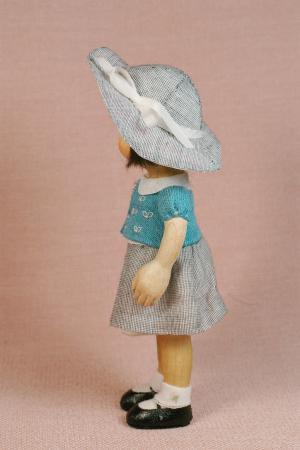 夏帽子の子2