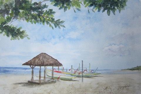 三原色でビーチ (2)