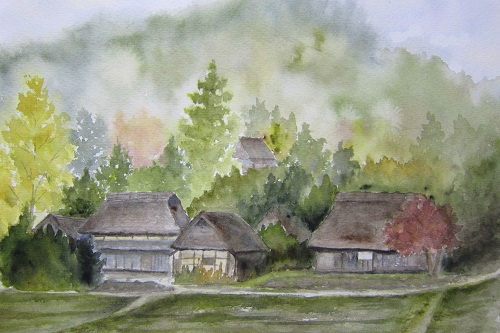 八塔寺の茅葺 (1)