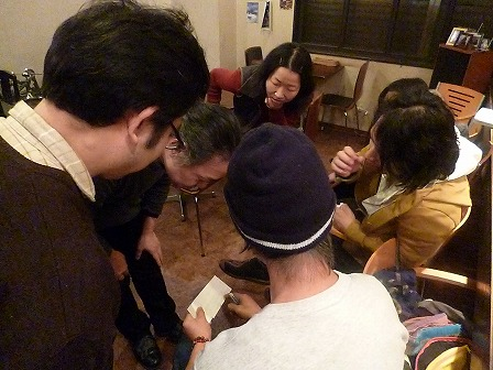g村山義光講師と受講者と岡本マスター