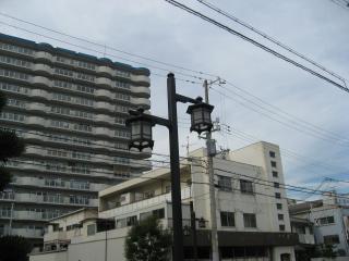 薬仙寺前の街灯