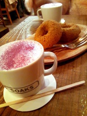 SOAKS ドーナツ+紫芋ラテ