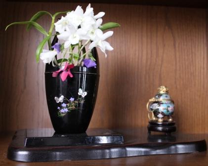 玄関の切り花
