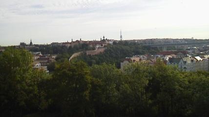 ヴィシェフラット城から見た風景