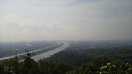 レオポルツブルクから見たウィーン市街