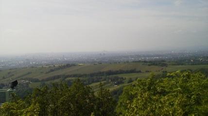 レオポルツブルクからみた畑