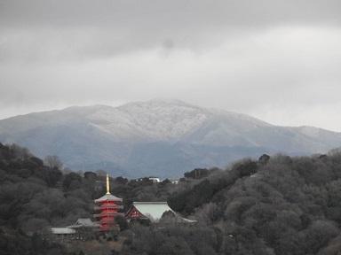 金剛山は積雪