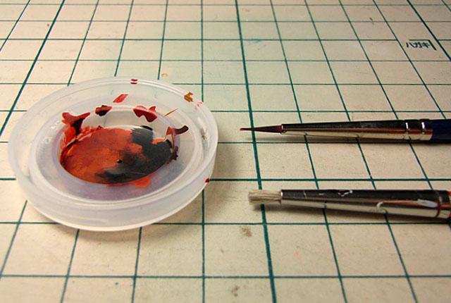 木目パネル塗装の筆 640×430