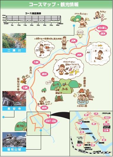 第22回福知山マラソン・コース図