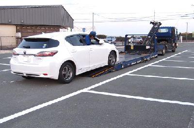名古屋から車取りに来たんだって・・・