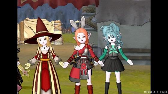 苦笑い3人娘