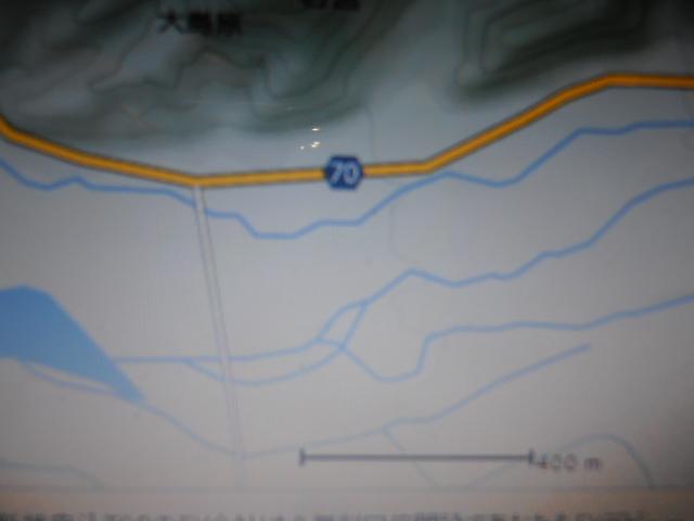 トンネルをくぐって 大倉川橋を渡り70号左折