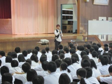 小針中学校講演会2