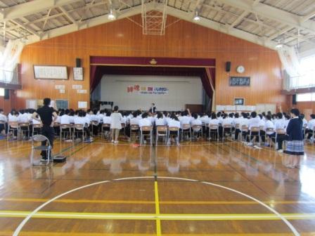 内野中学校講演会
