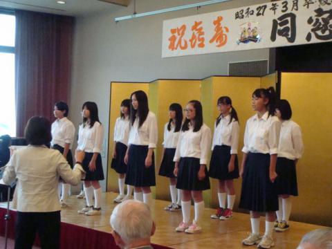 s27卒業綾部中学校同窓会にて