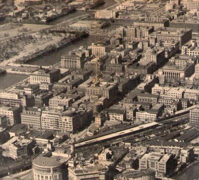 東京駅付近昭和27年
